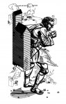 Der Pilger, 2007 Holzschnitt, 7er Auflage (nur noch 1 Exemplar!) Druck 93 x 51  cm, Papier ca. 105 x 60 cm € 700,-