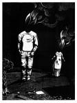Brennen, aus der Serie Melencolia Infantilis, 2013Holzschnitt, 10er Auflage Druck, 40 x 30 cm, Papier 43 x 33cm € 270,-