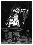 Schaffen, aus der Serie Melencolia Infantilis, 2013Holzschnitt, 10er Auflage Druck, 40 x 30 cm, Papier 43 x 33cm € 270,-