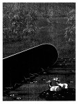 Eindringling, aus der Serie Melencolia Infantilis, 2013Holzschnitt, 10er Auflage Druck, 40 x 30 cm, Papier 43 x 33cm € 270,-