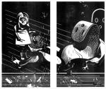 Der Fund, 2011 Holzschnitt-Diptychon, 10er Auflage Druck 2x 30 x 17 cm, 2x 32 x 19 cm € 350,-
