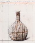 Wrapped Bottle (Project for Kirchberg Spätlese 2007 - 2011)Collagiertes Papier mit digitalem Pigmentdruck und handgemachten Kreide Ergänzungen32 x 26 cm, Auflage 120  Preis auf Anfrage
