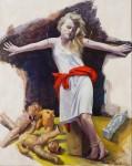 Schmerzensfrau 2009Mischtechnik auf Hartfaser, 125 x 100 cmPreis auf Anfrage