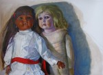 Schwarz-weiße Puppe 2012Öl auf Leinwand, 60 x 80 cmPreis auf Anfrage