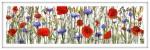 Almwiese, 2012 Unikat, Mixed Media auf Glas, 2scheibig, 40 x 120 cm€ 3500
