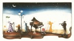 Kleine Nachtmusik, 2015 Aquatinta-Radierung 30,0 x 40,0 cm€ 350