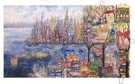 New York Manhattan Utopian Civilizations, 2015Acrylfarben und Tüten auf Leinwand Diptychon, je 160 x 280 cmPreis auf Anfrage