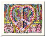 The best peace of my Heart 2014, drucksigniert, 26,9 x 20,7 cm