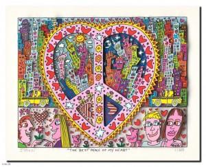 The best peace of my heart 2014, drucksigniert, 26,9 x 20,7 cmPreis auf Anfrage