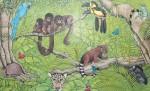 DschungelMT a/Papier, 25,0 x 40,0 cm aus 'Ich glaube fast, hier stimmt was nicht'Sellier Verlag 1996                                                                           Preis auf Anfrage