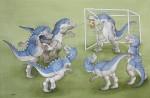 Fussball DinosAquarell a/Papier, 43,0 x 61,0 cm aus '1-2-3 Dino-Zählerei, Coppenrath 2012                                                               Preis auf Anfrage
