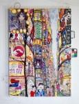 TokyoFantasy, 2015Acrylfarben und Tüten auf Leinwand, 140 x 100 cmPreis auf Anfrage