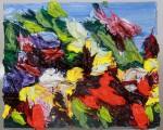 Blumenrausch 2015 Ölfarben auf Leinwand (Pastose Malerei) 20 x 25 cm m/R € 1950