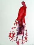 Flamencotänzerin 1996Aquarell auf Papier, AM 29,0 x 39,0 cmVerkauft