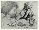 ElisabethStrichätzung, tlw. geschabt, Chine collée, 2002Auflage 5012,5 x 16,5 cm280,- €