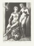 (Adam u. Eva)Schablithographie, 2013Auflage 3019,5 x 14,0 cm, 450,- €