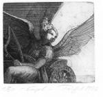 EngelVernis mou, Strichätzung, Aquatinta, 1996Mappenauflage 30 + XII10,5 x 11,5 cm240,- €