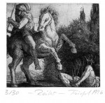 ReiterStrichätzung, Aquatinta, 1996Mappenauflage 30 + XII10,5 x 11,5 cm240,- €