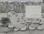 Original Tusche-Zeichnung der Innentitelseite aus: Die Opodeldoks, 198521 x 29,7 cm (Darstellung) signiert 600,- €