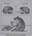 Original Tusche-Zeichnung aus: Tier-ABC, 1983Ca. 17,5 x 16 cm (Darstellung), signiert 500,- €