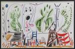 """Aus """"La Californie""""Farb-Lithographie, in der Platte datiert 8.11.(19)55 I, unsigniert Auflage: 2000 Exemplare 27 x 41,5 cm (ganzes Blatt) Nicht im WerkverzeichnisVerkauft"""