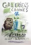 Hibou, Verre et Fleur  (Galerie 65, Cannes, Picasso,  14 aout – 30 septembre 1956) Farblithographie, 1956, handsigniert Nr. 95/100; B.1272 Ca. 68,5 x 48,5 cm (Darstellung)